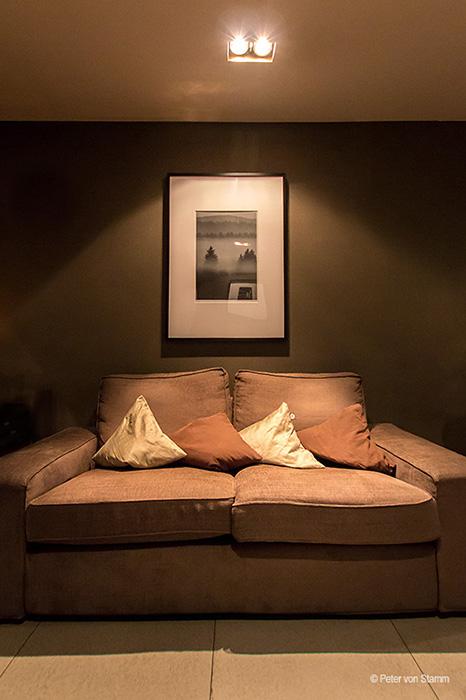Gemütliches Sofa im Hotel Wyndham Mannheim