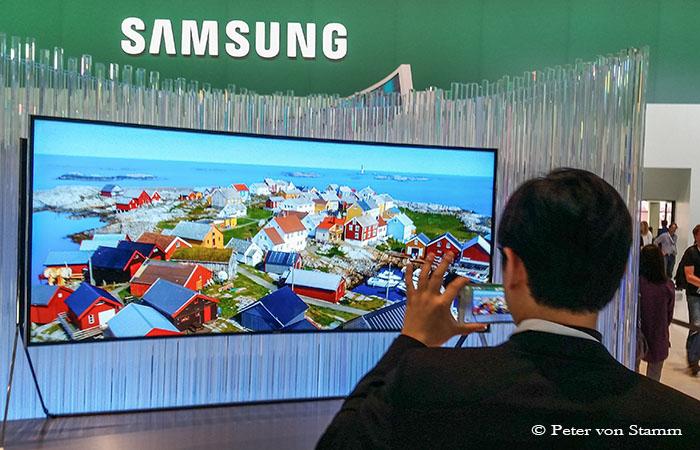 Samsung TV auf der IFA in Berlin