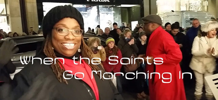 Video when the saints go marching in
