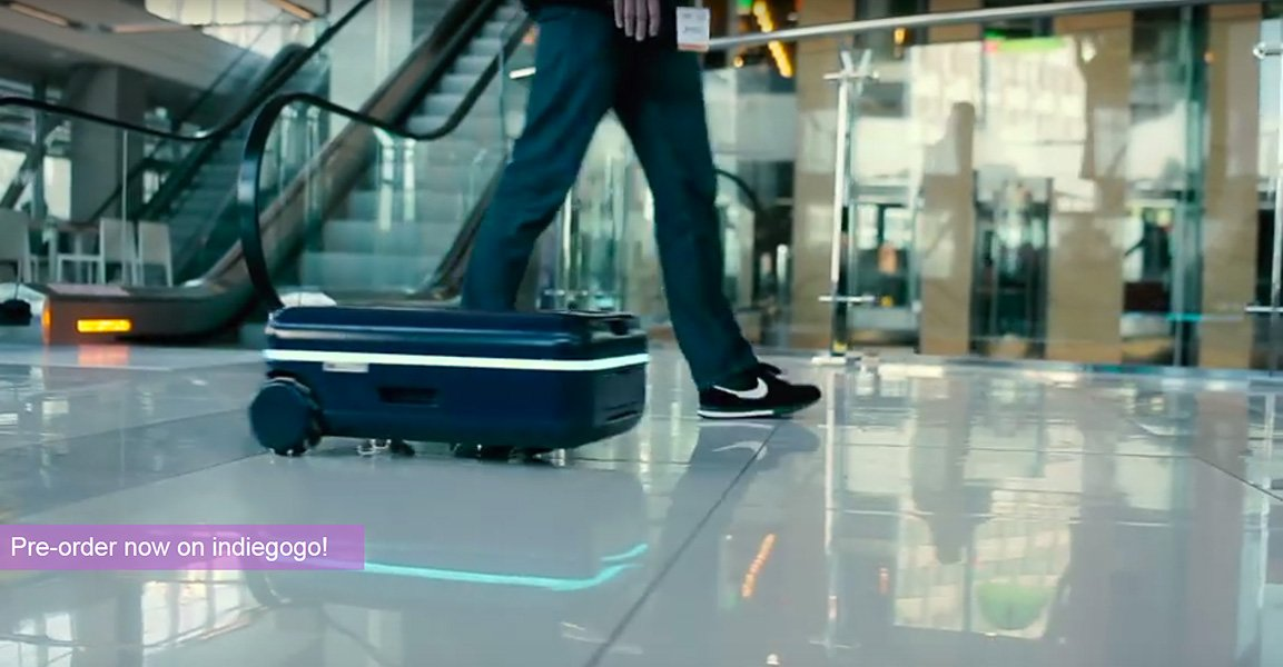 Travelmate robotic luggage