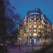 Corinthia Hotel London at night