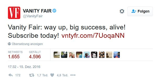 Vanity Fair Donald Trump Grill Tweet