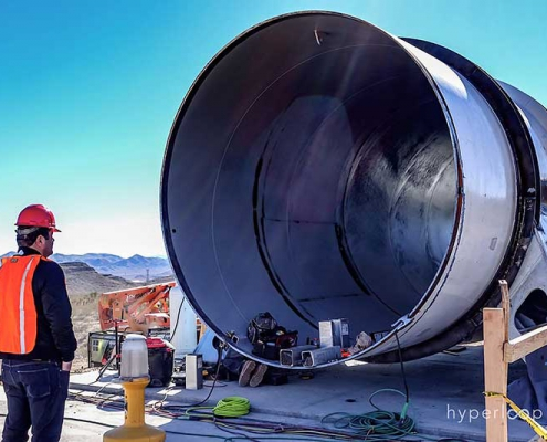 Hyperloop One construction