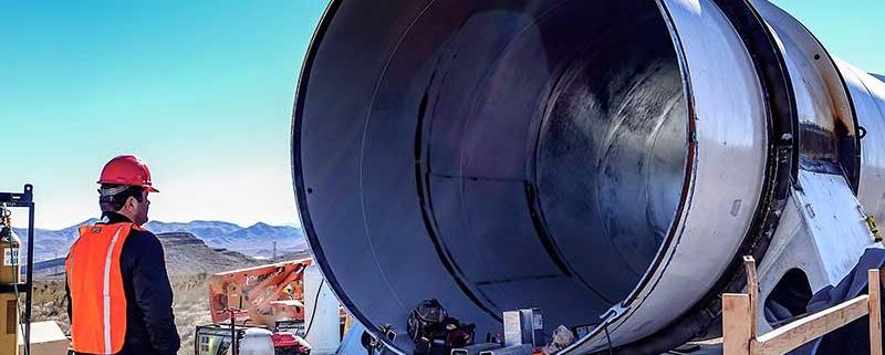 Hyperloop One construction