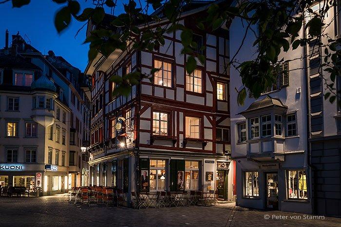 Altstadt St. Gallen bei Nacht