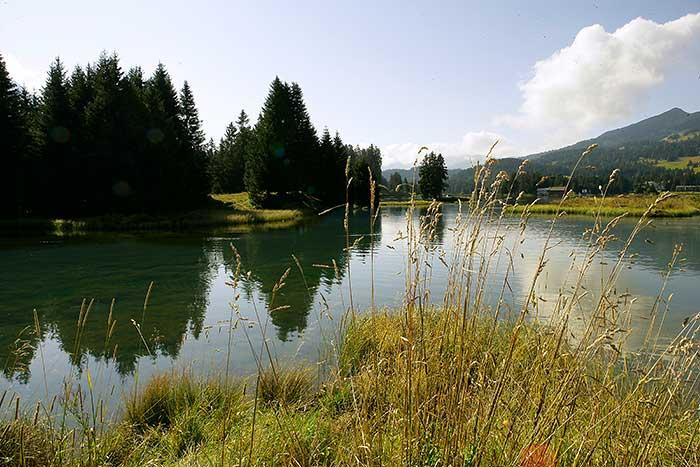 Der Heidsee in Graubünden