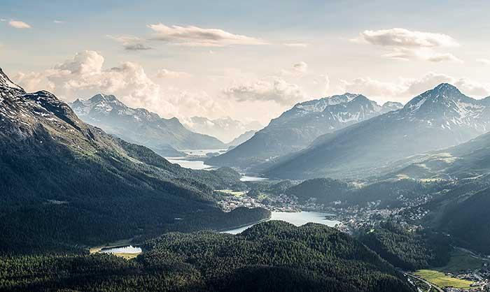 Oberengadiner Seen in Graubünden