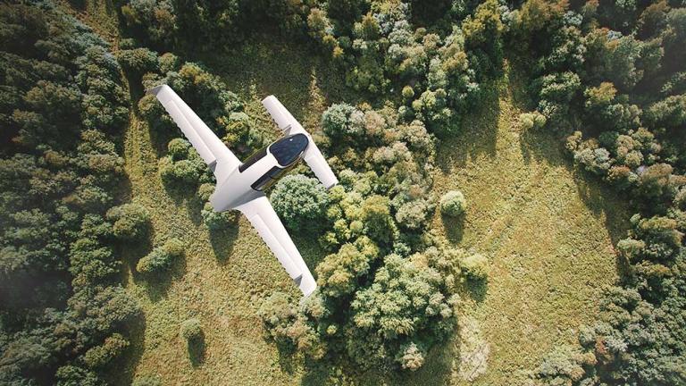 Electric plane Lilium Jet
