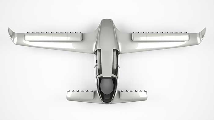Electric plane Lilium Jet