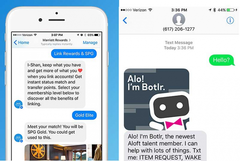 Marriott and Aloft Chatbots