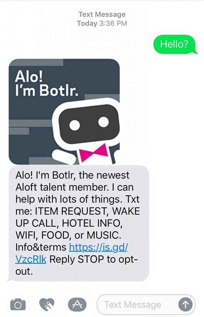 Aloft Hotels Chatbots