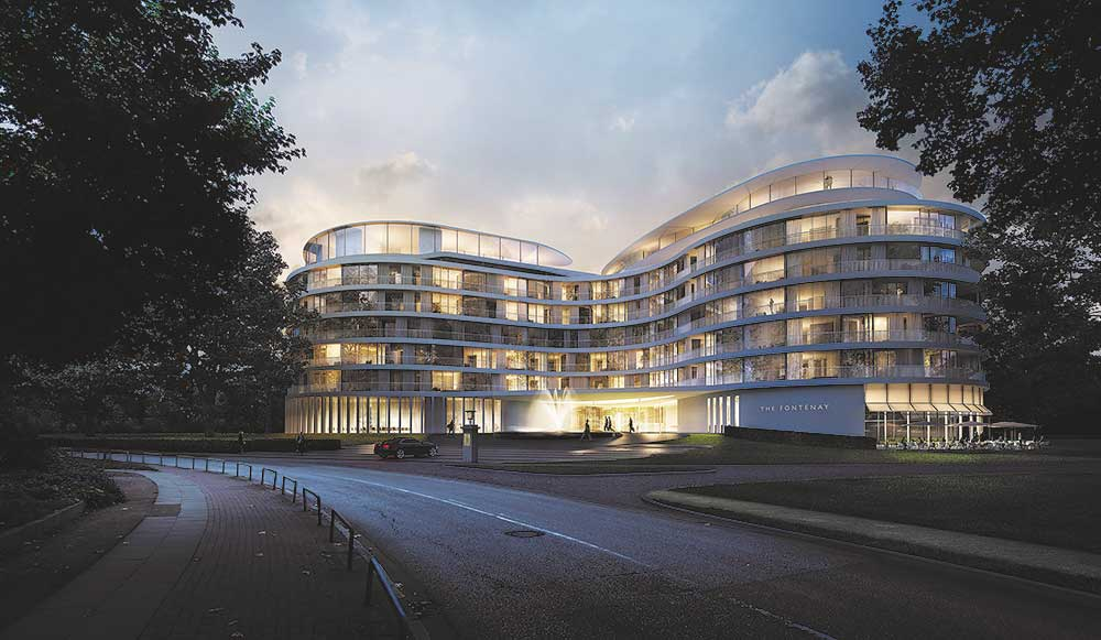 The Fontenay Hotel in Hamburg
