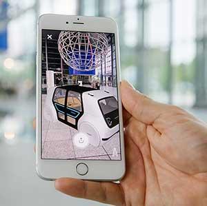 Der VW SEDRIC in der Autostadt: Sichtbar nur mit der neuen AR-App