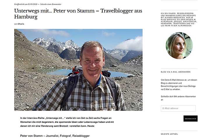 Intervoiew mit Peter von Stamm auf blog.wohlgeraten
