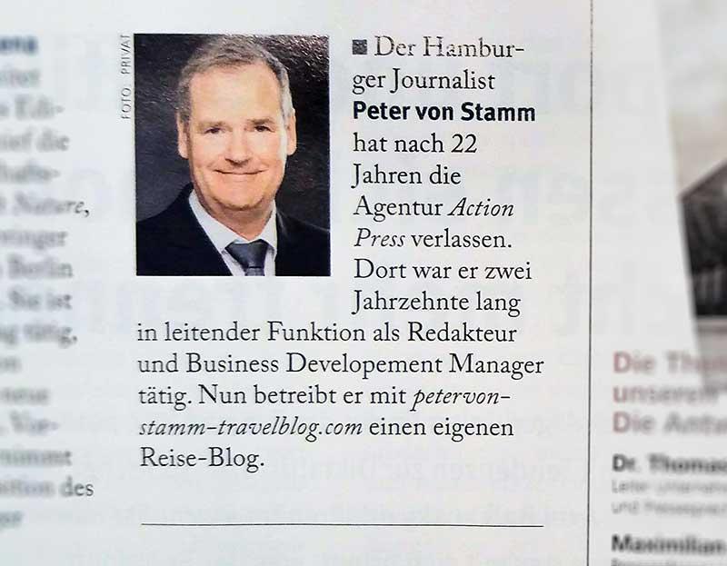 Peter von Stamm Personalie im Journalist Medienmagazin