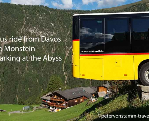 Bus ride from Davos to Monstein