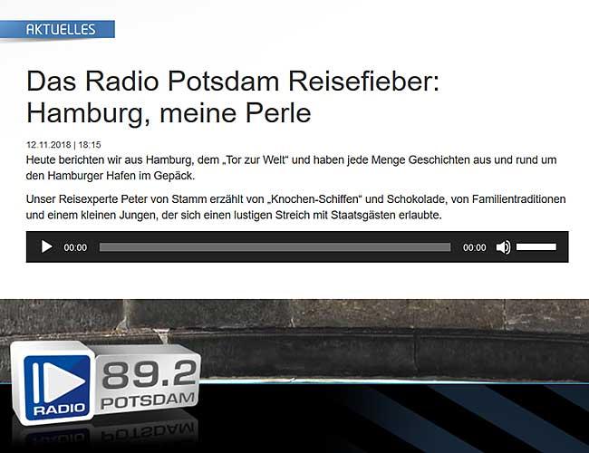 Peter von Stamm Reisefieber auf Radio Potsdam
