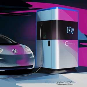 Volkswagen Schnellladesäulen ab 2020 in Serie