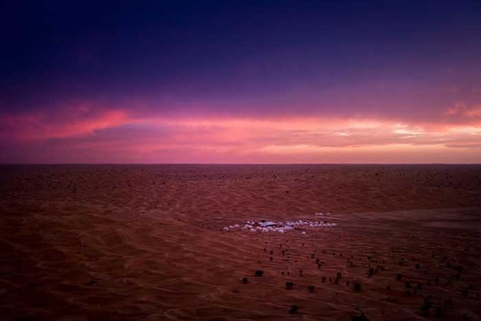 Camp Mars in der Sahara in Tunesien