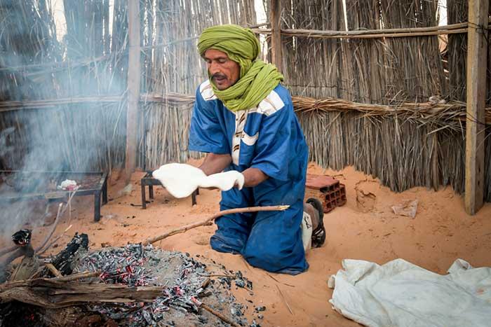 Café Tembain in der Sahara in Tunesien