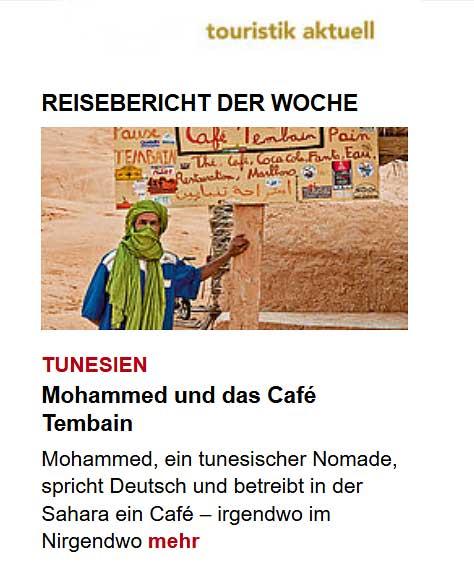 Reisebericht der Woche in touristik aktuell