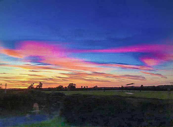 Eggington House sunset