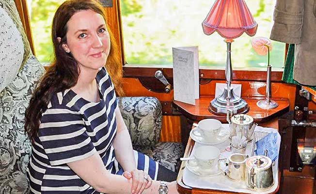 Orient Express - Bianca on board!
