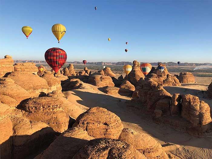 Al Ulka Balooning in Saudi Arabien