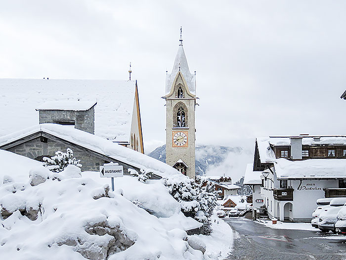 Snow in Serfaus
