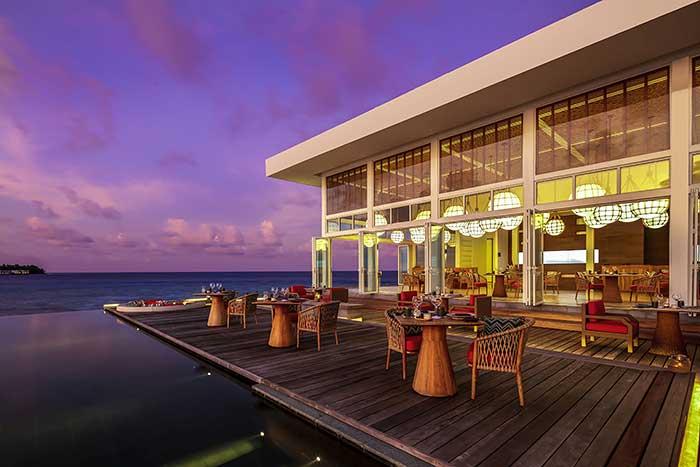 Restaurant auf Malediven Trauminsel