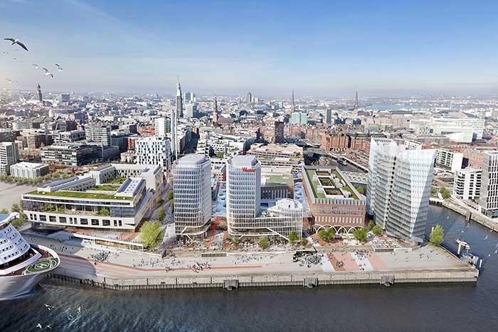 Neue Hotels in Hamburg - 3 Gebäudekomplexe