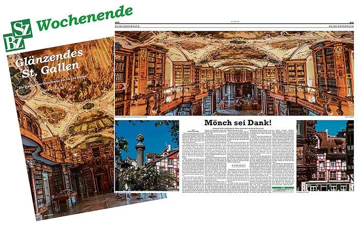 St Gallen Abdruck in Zeitung