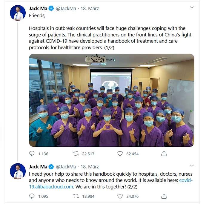 Jack Ma auf Twitter