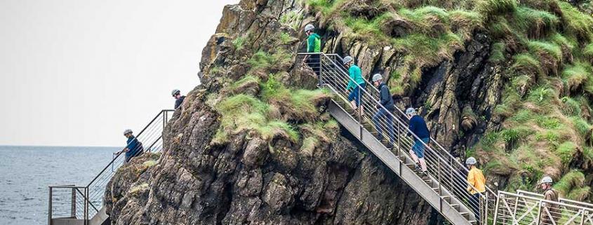 Gobbins Klippenpfad in Nordirland
