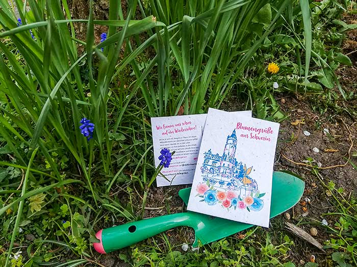 Blumenpostkarte aus Schwerin