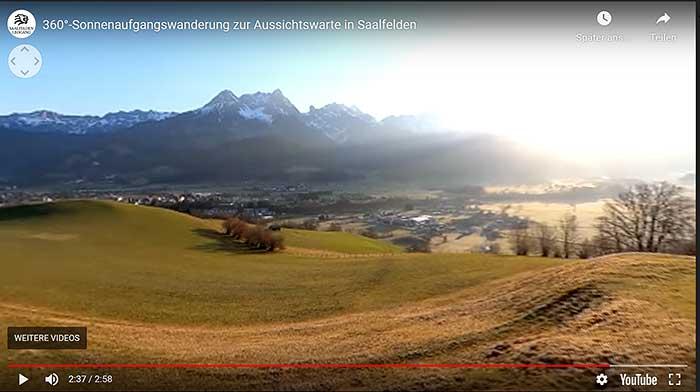 Weg zur Aussichtswarte von Saalfelden