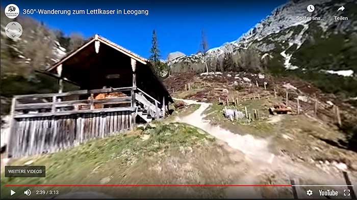 Schöne Wanderung in Österreich zum Lettlkaser