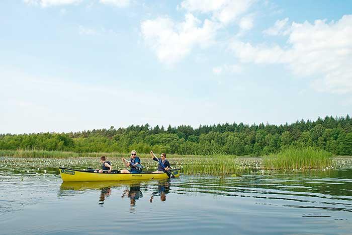 Paddler auf der Mecklenburgischen Seenplatte